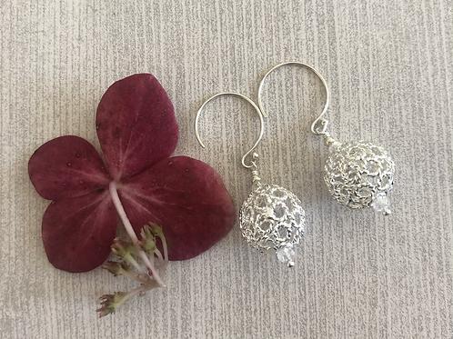 Silver Filigree Drop Earrings