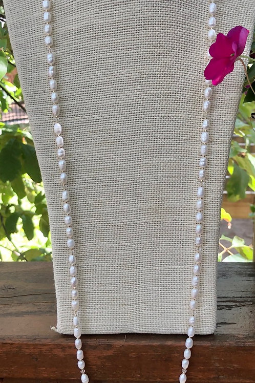 Freshwater Rice Pearl Necklace/Wrap Bracelet