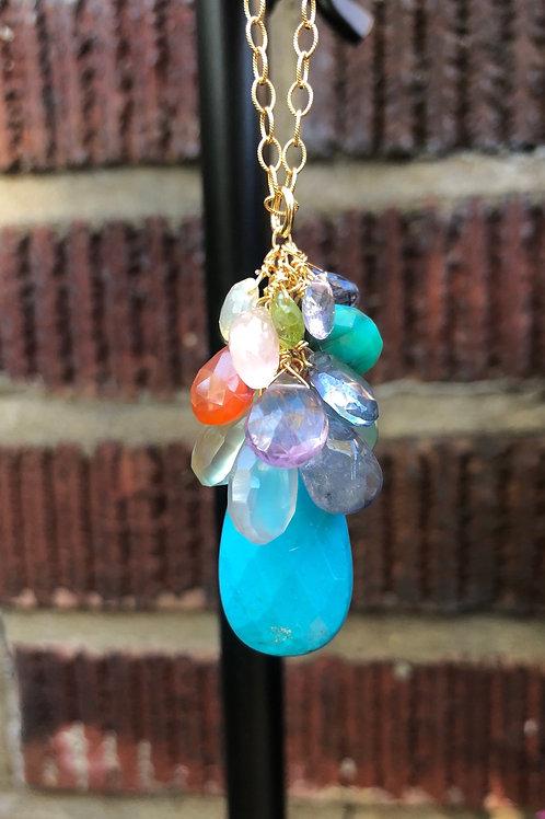 Cascading Gemstone Necklace