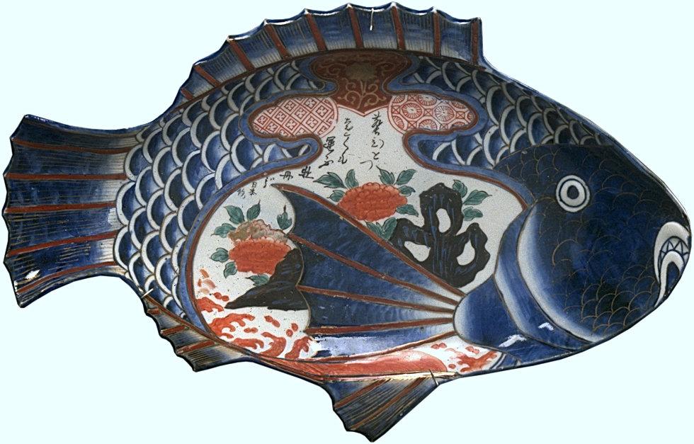 Plat en forme de poisson