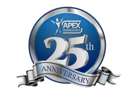 Apex Radiology - 25th Anniversary Logo
