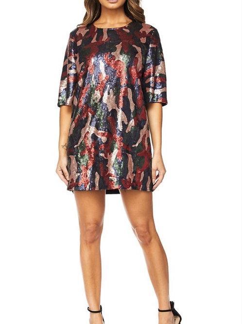 Love & War Sequin T-shirt Dress