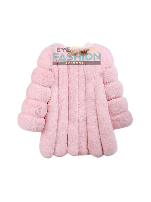 Vegan Bubblegum Pink Fur Coat