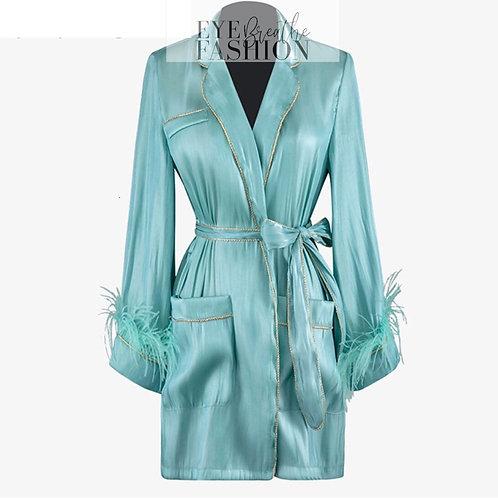 Housewife Satin Robe Dress