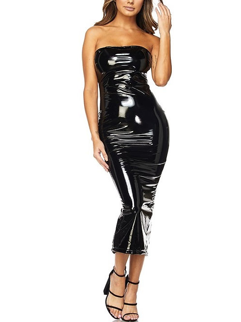 Latex Slay Black Dress