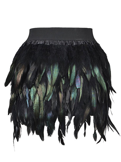 Feather Shades Of Black Skirt