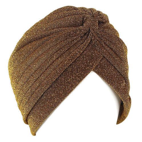Gold Glitter Fashion Turban