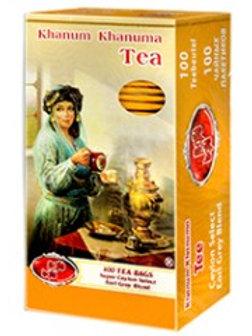 thé noir sachet Khanum Khanuma 200 g  ( چای سیاه کیسه ای )