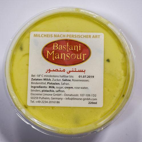 Glace à la crème de pistache et au safran 200g