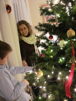Decorating the church tree