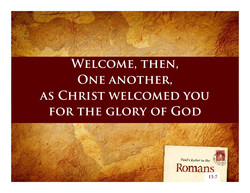 Radical Implications of Welcoming On