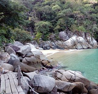 Puerto Vallarta colomitos beach, far south at boca e tomatlan.