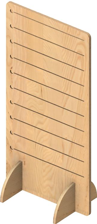 Plywood Pop Slot Single Sided Freestanding Unit - Large