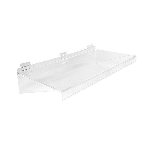 Slatwall Acrylic Shelf  586w x 280d x 133h