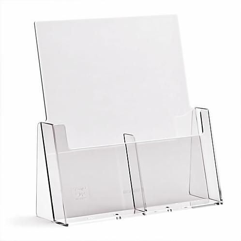 2 Pocket A4/DL Portrait Leaflet Holder -counter standing