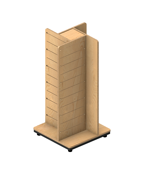 Plywood Pop Slot 4 Way Gondola