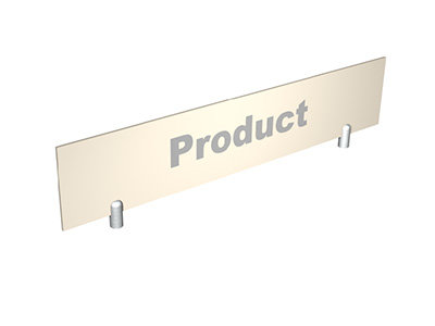 Header Sign For Gondolas & Display Stands