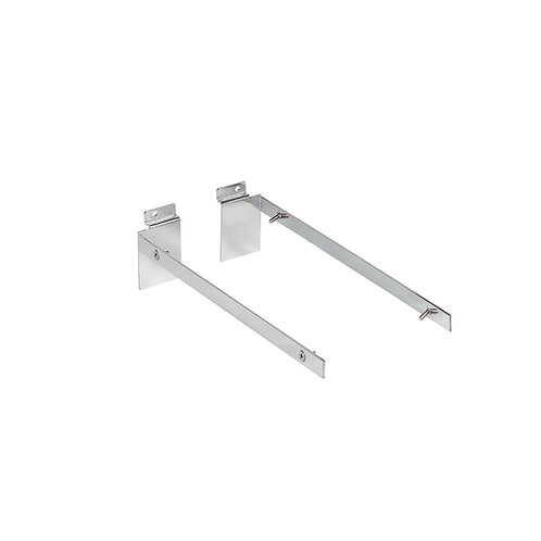 Slatwall Shelf Bracket Set For 18mm Thick 300d Shelf