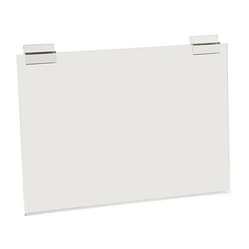 Slatwall Acrylic A3 Sign Display (Landscape) 420w x 300h