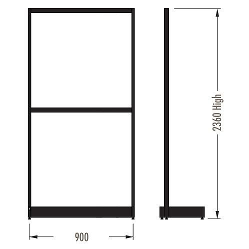MAXe Single Sided Starter Bay Kit 900w x 2360h