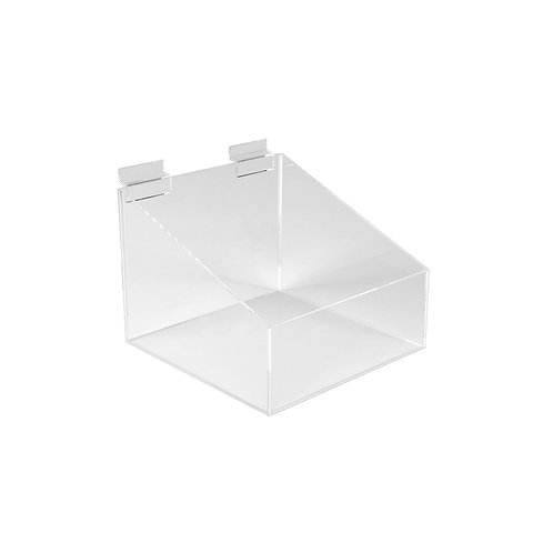 Slatwall Acrylic Display Bin With Low Front 205w x 205d x 155h