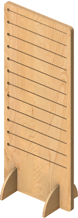 Plywood Pop Slot Double Sided Freestanding Unit - Tall