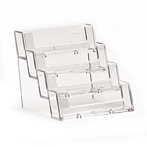 4 Pocket Business Card Holder, Landscape - counter standing