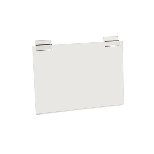 Slatwall Acrylic A4Sign Display (Landscape) 300w x 210h