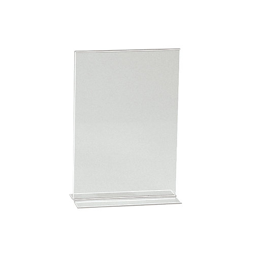 A5 Portrait Vertical Acrylic Sign Holder Double Sided Display