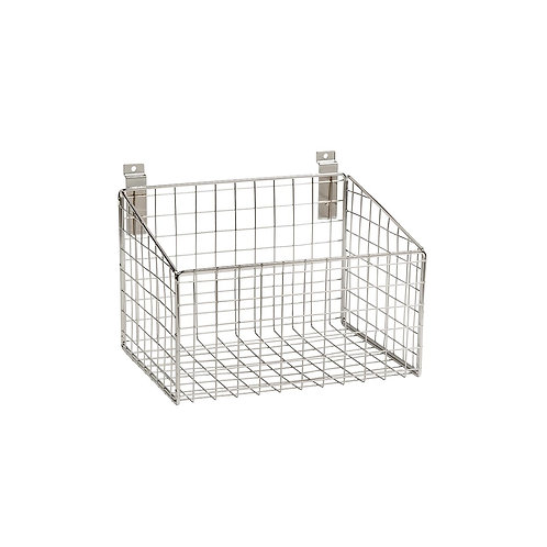 Slatwall Mesh Basket With Low Front 293W x 220D x 200H 150mm Front