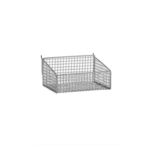 Slatwall Mesh Basket With Low Front 250 W x 185 D x 125mm H