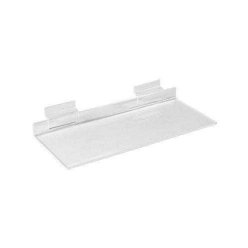 Slatwall Acrylic Shelf 250w x 100d