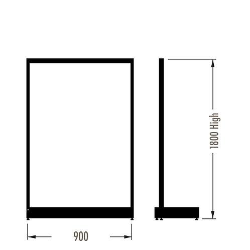 MAXe Single Sided Starter Bay Kit 900w x 1800h