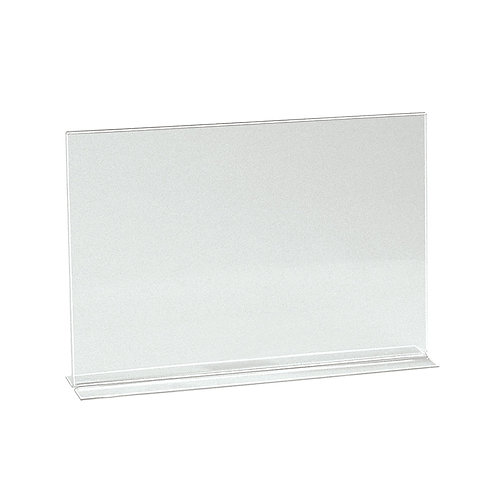A4 Landscape Vertical Acrylic Sign Holder Double Sided Display