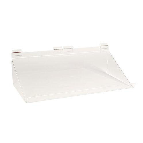 Slatwall Acrylic Shelf Angled 586w x 280d x 133h