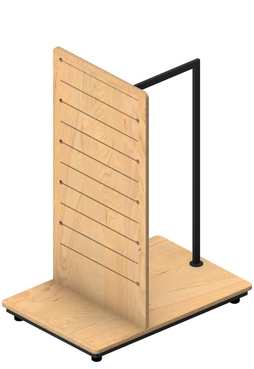 Plywood Pop Slot Gondola with Hangrail