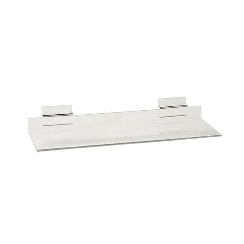 Slatwall Acrylic Shelf 293w x 100d