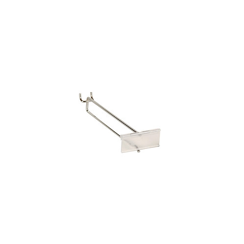 Slatwall/Pegboard Hook 225mm With 80 x 26mm Flipper Scan Plate