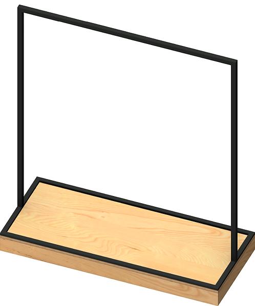 Plywood 100mm Base Unit with MAXe Style Rack - Large