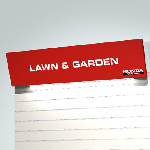 Red Angled Signage Panel