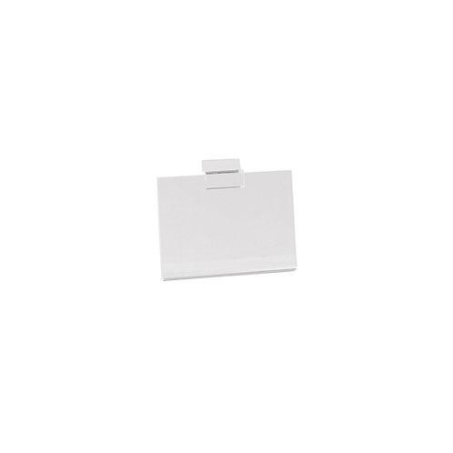 Slatwall Acrylic A6 Sign Display (Landscape) 150w x 105h