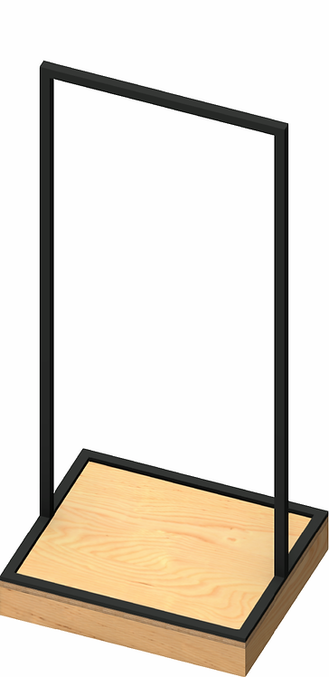 Plywood 100mm Base Unit with MAXe Style Rack - Small