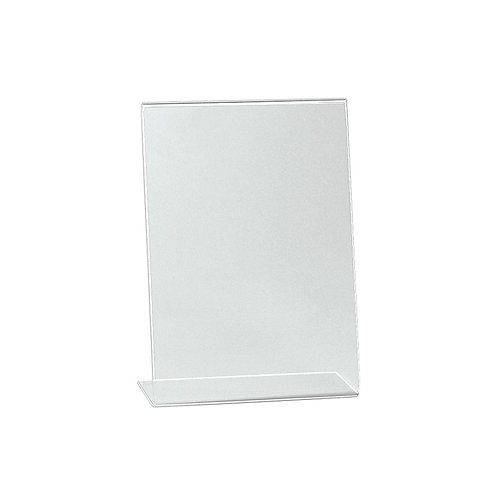 A5 Portrait Angled Acrylic Sign Holder Single Sided Display