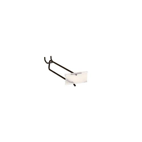 Slatwall/Pegboard Hook 150mm With 80 x 26mm Flipper Scan Plate