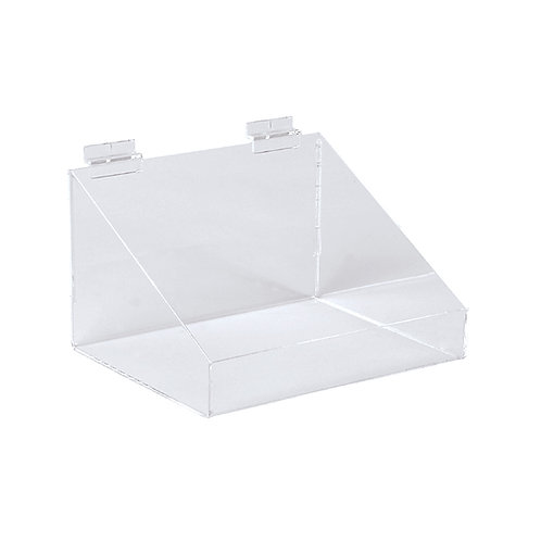 Slatwall Acrylic Display Bin With Low Front 293w x 200d x 150h