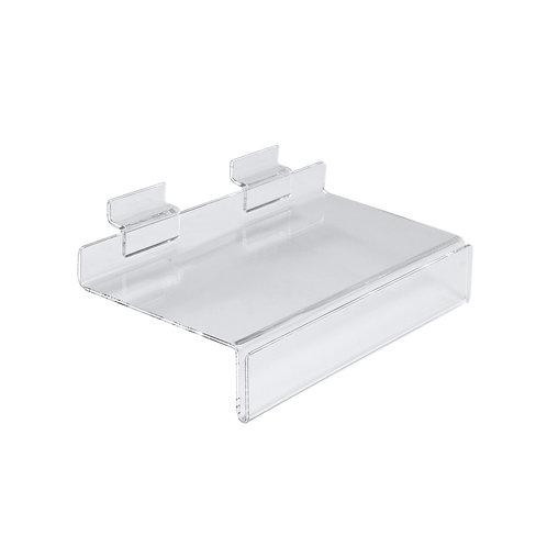 Slatwall Acrylic Shelf With Ticket Provision 250w x 100d