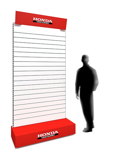 Freestanding Slatwall (Double Sided) 1200w x 2400h (1 Section)