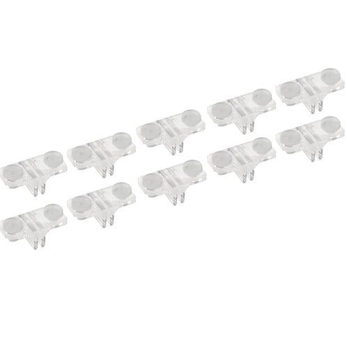 Shelf Support Clip Double Sided Fitted with Grommet (Pack of 10)