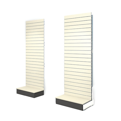 Freestanding Slatwall 1200w x 2400h with 400d Base Plinth - Add-On Bay