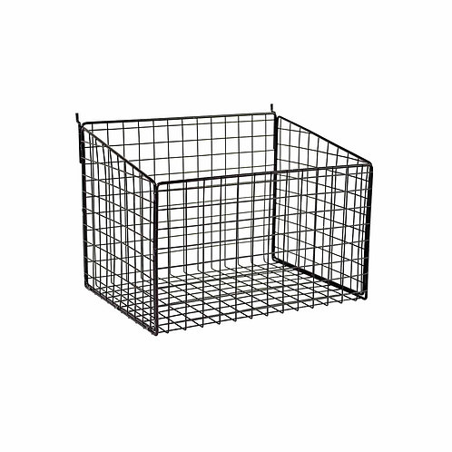 Slatwall Mesh Basket With Low Front 345 W x 260 D x 250mm H